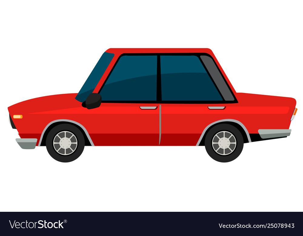 A vinatge car on white background