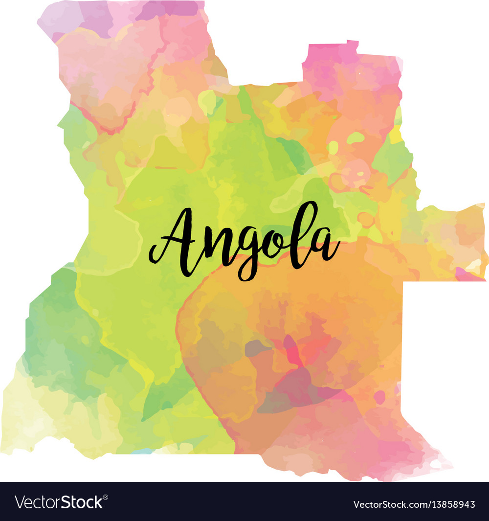 Abstract angola map