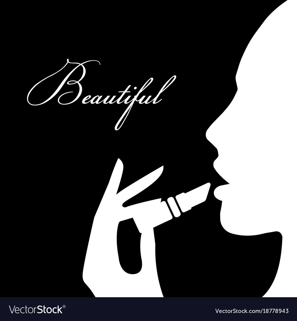 Beauty girl silhouette beautiful woman