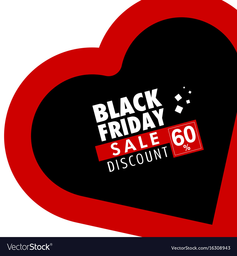 Black friday in red heart