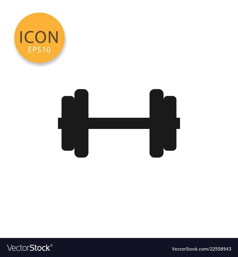 Dumbbell icon isolated flat style