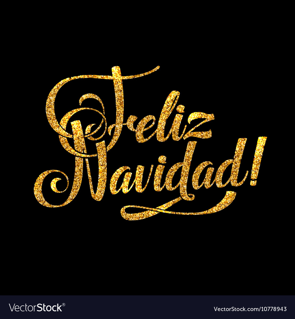 Spanish Card Golden Shiny Vector Image