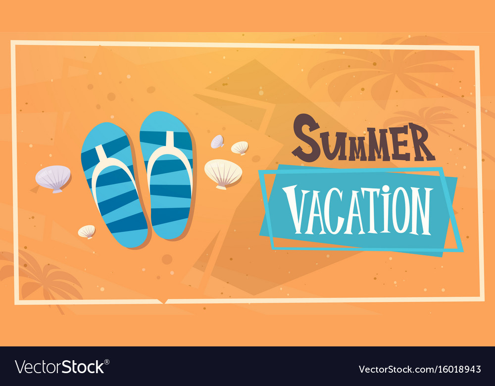 Summer vacation sea travel retro banner seaside