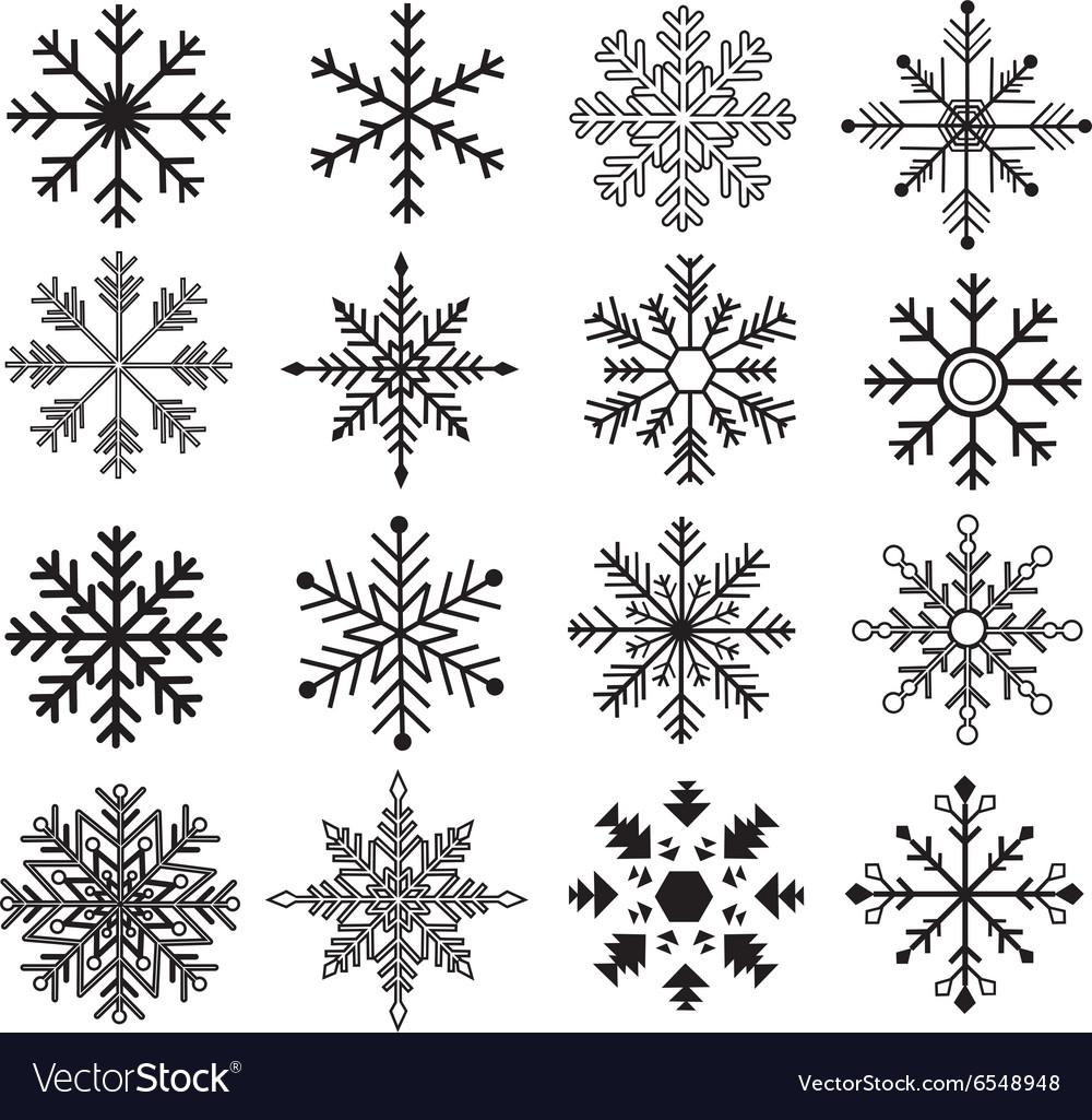 Black Snowflakes Silhouette Collections Royalty Free Vector Snowflake silhouette, silhouette of snowflake, snowflake vector, christmas vector, snowflake png, snowflake ai, christmas images, snowflake siluette. vectorstock