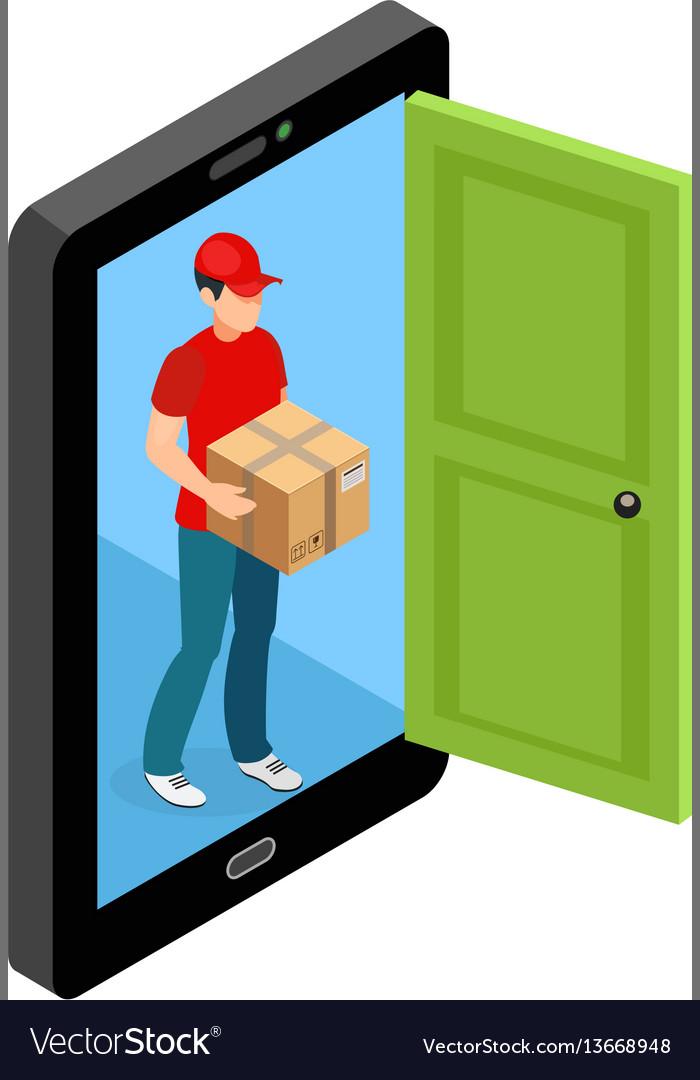 Delivery door screen concept