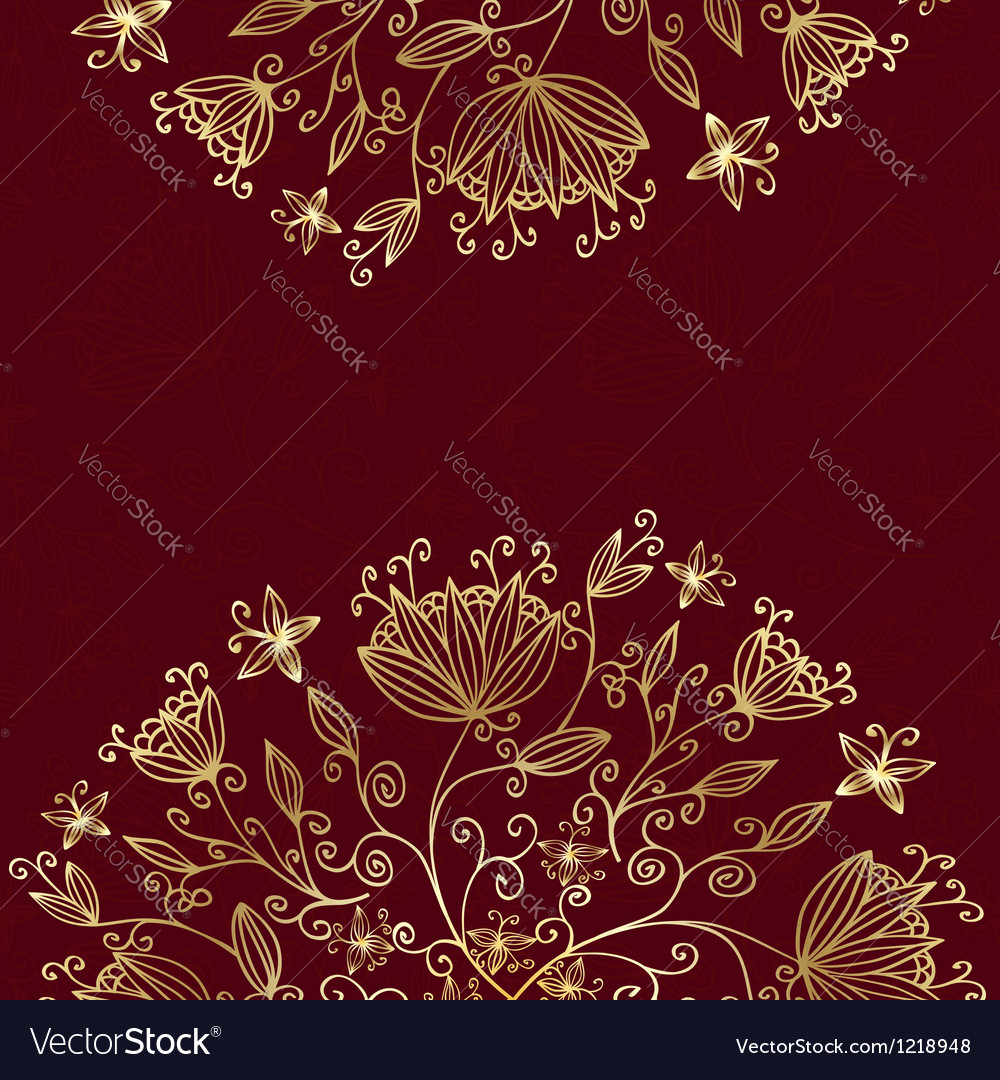 Floral card red