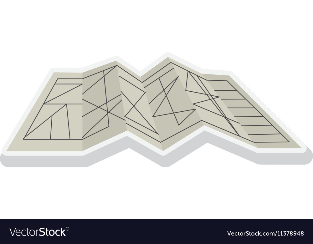 Silhouete architecture plan with lines vector image