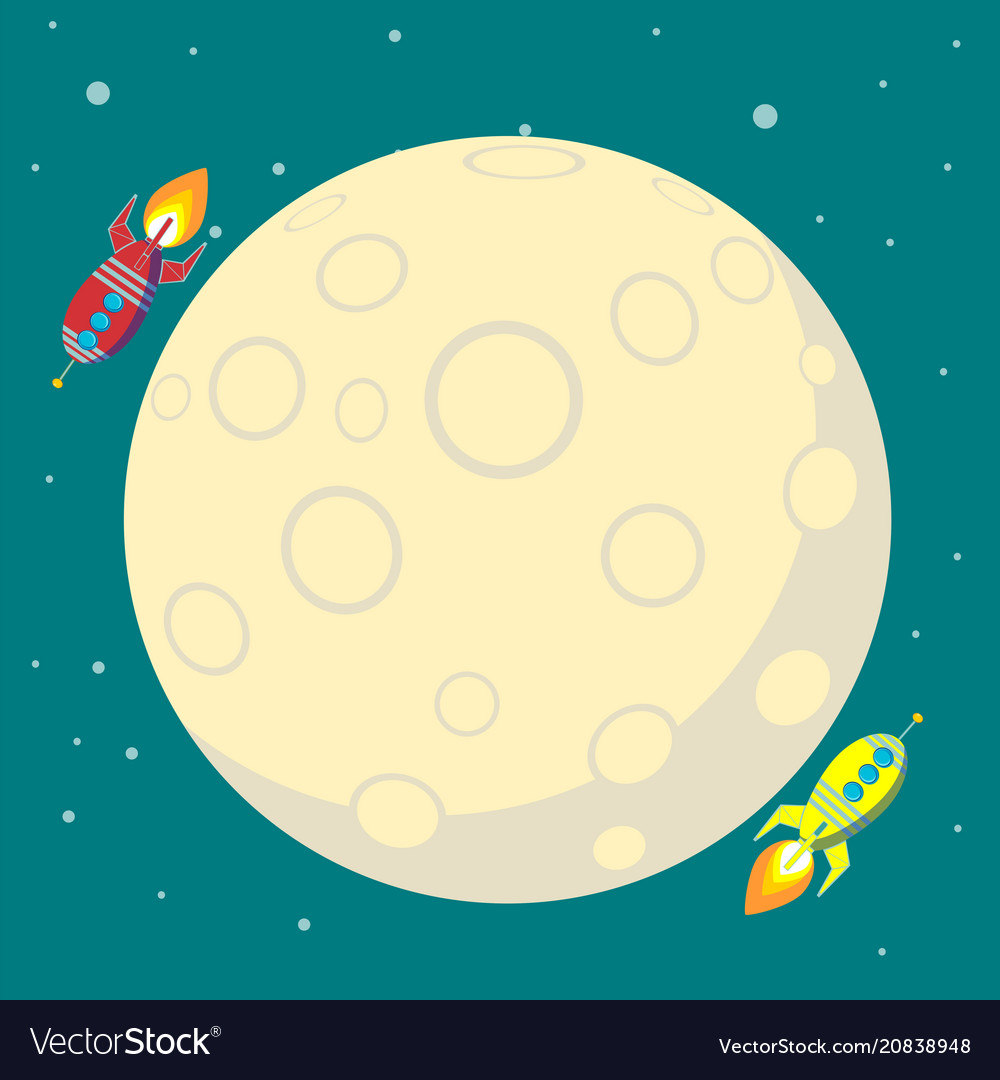 Space travel to the moon space rocket launch
