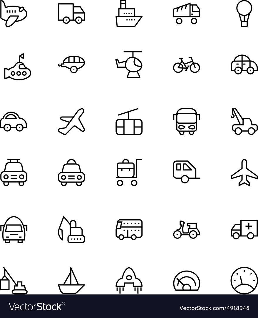 Transportation Icons 1
