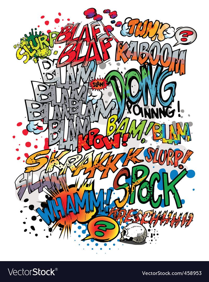 comic book words royalty free vector image vectorstock