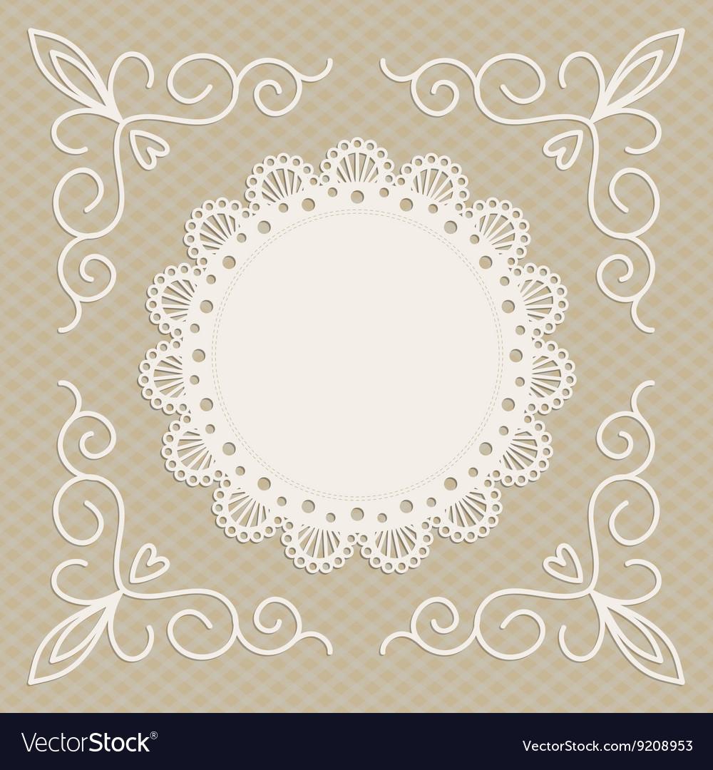 Greeting card or wedding invitation mono line vector image