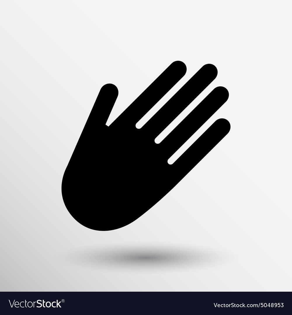 Hand Icon Palm Symbol Graphic Sign Line Royalty Free Vector