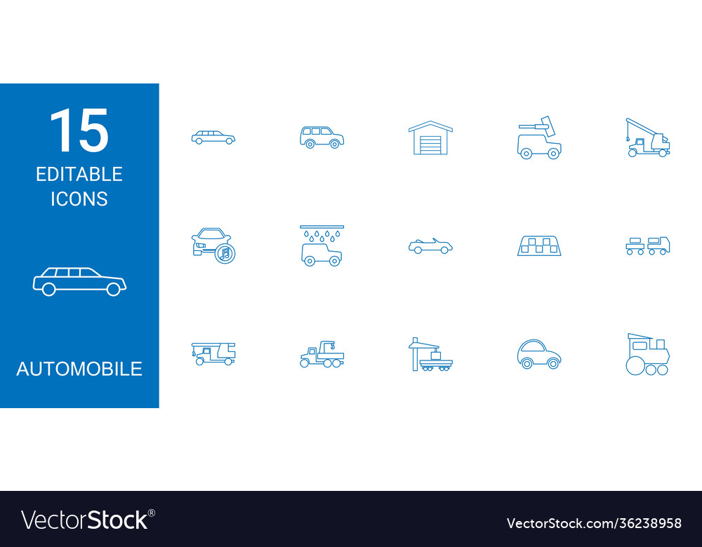 15 automobile icons