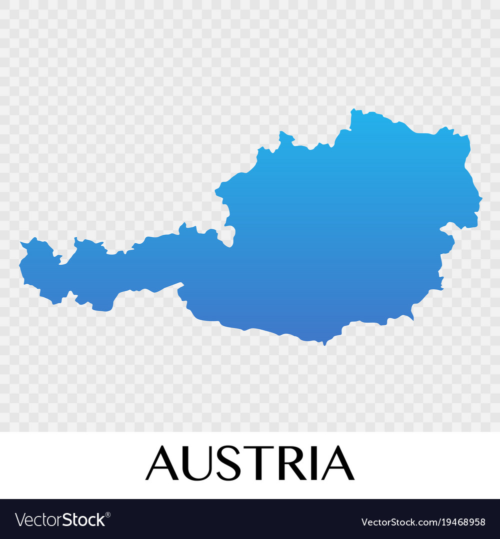 Austria Map In Europe Continent Design Vector Image