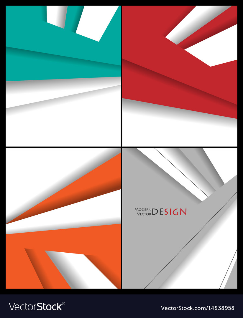 Brochures Templates Set Royalty Free Vector Image