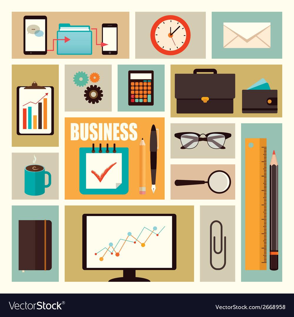Business flat elements