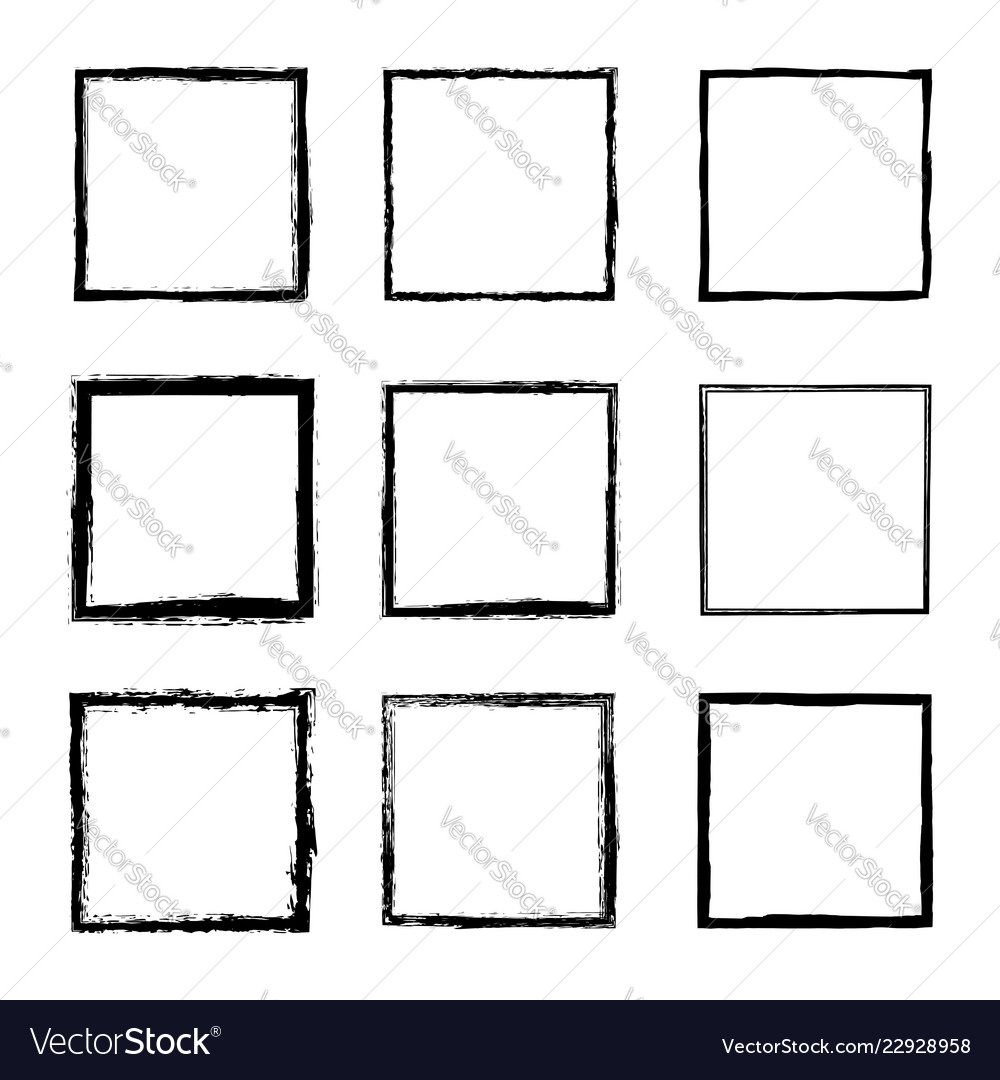 Collection of frames with rough dirty grunge