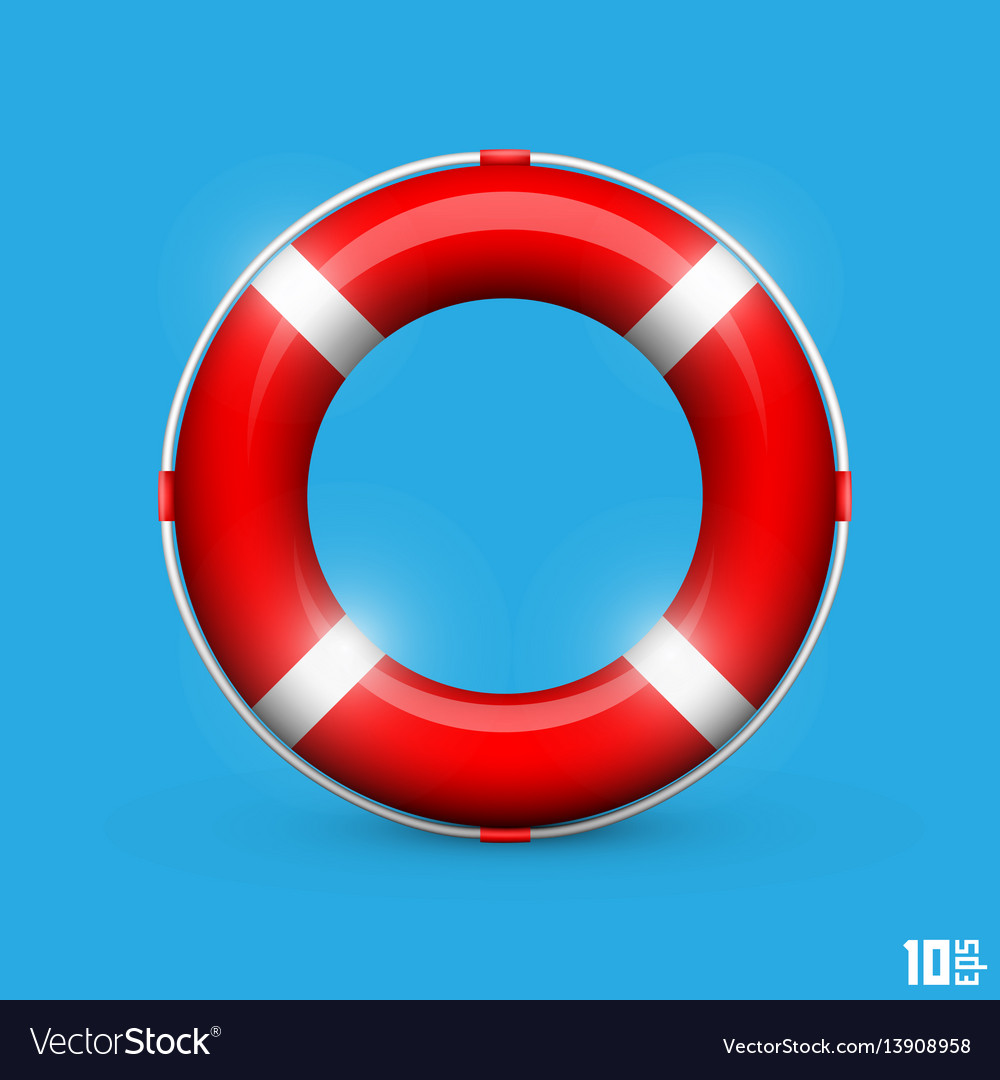 Lifebuoy on a blue background