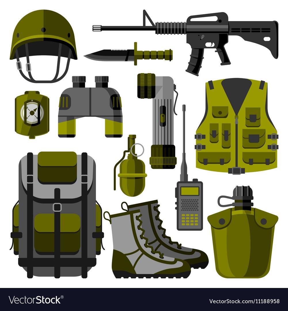 Military weapon guns symbols