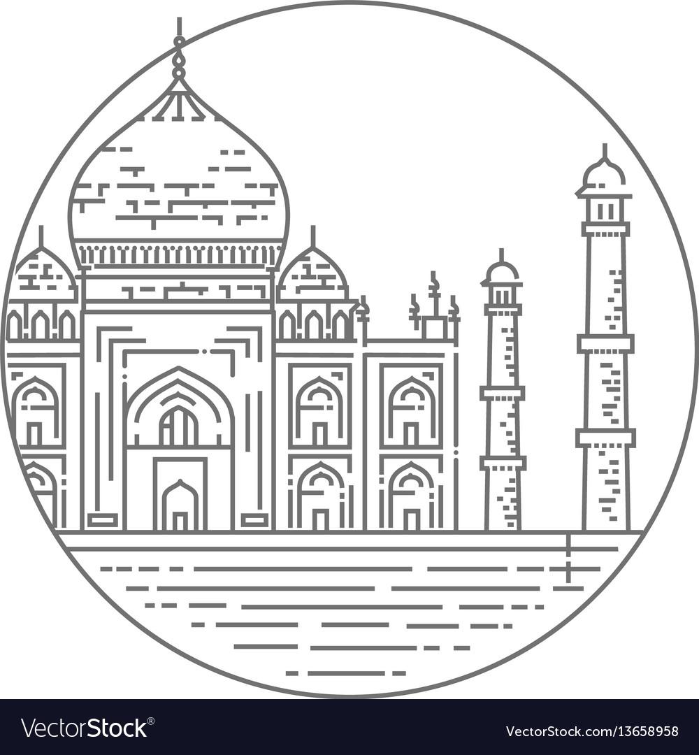 Outline taj mahal palace icon