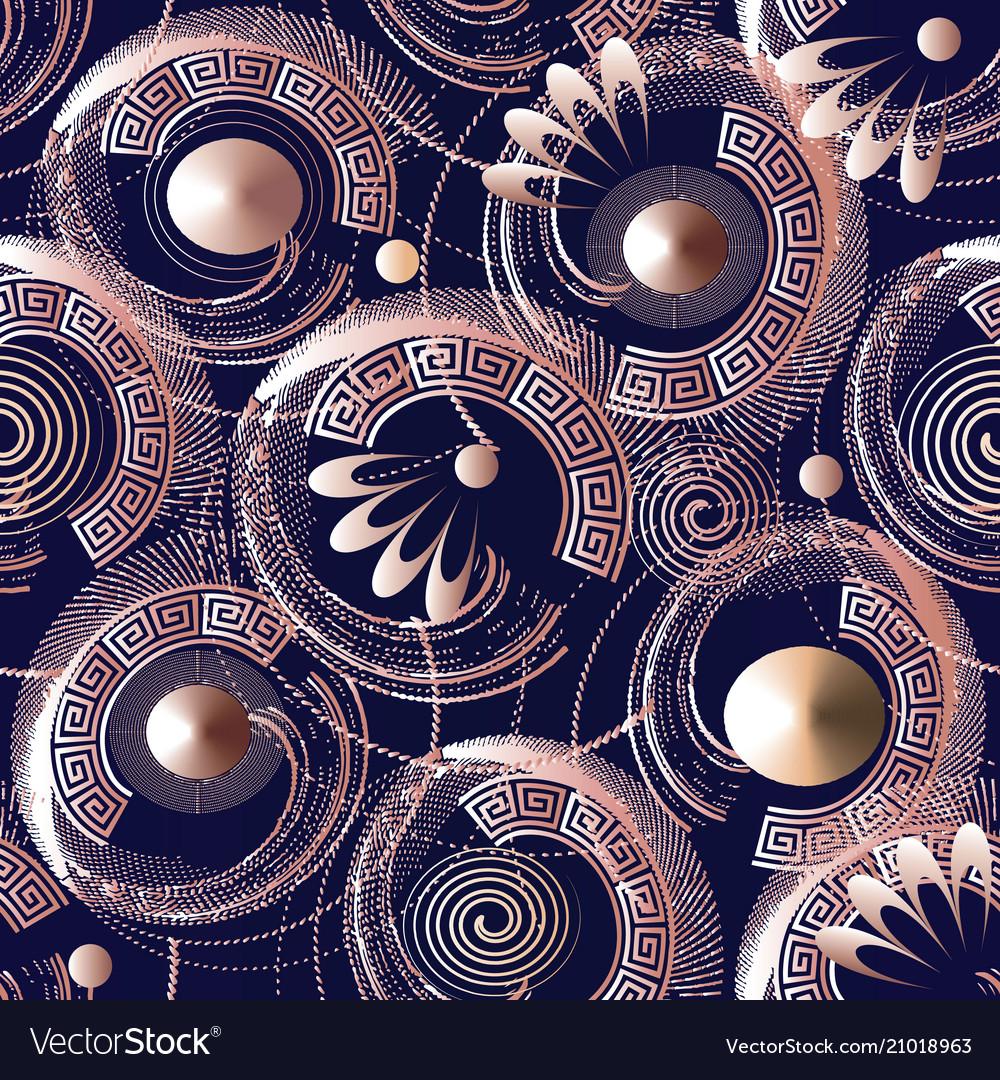 3d geometric ornate seamless pattern abstract