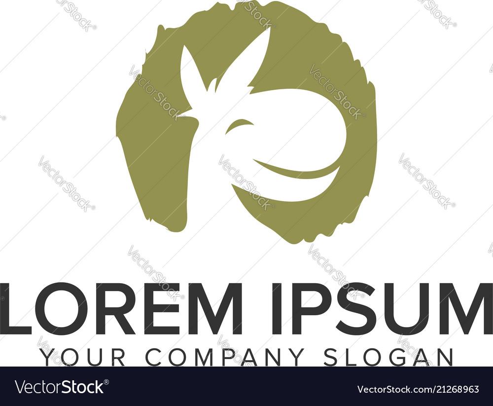 Donkey smile logo design concept template fully