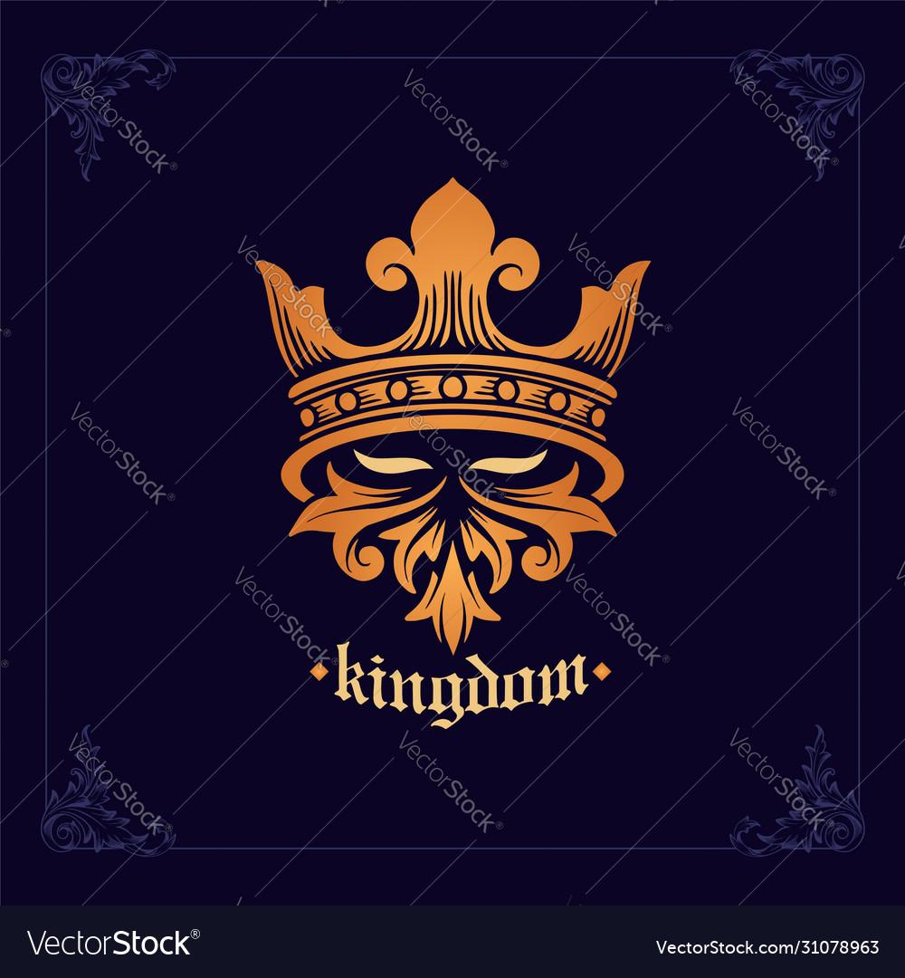 Emblem helmet spartan knight kingdom