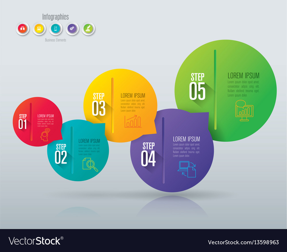 Infographics design with 5 step