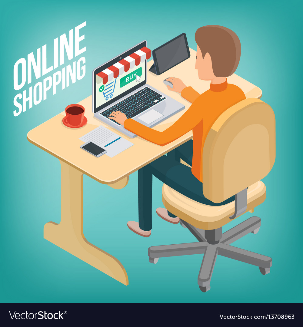 Man makes a purchase on the internet using a