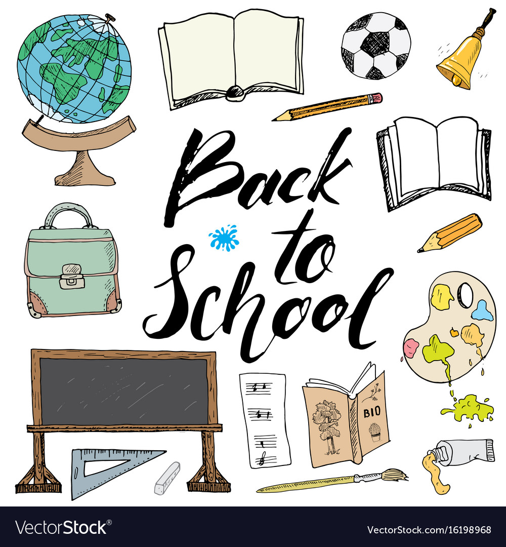 Back to school lettering quote