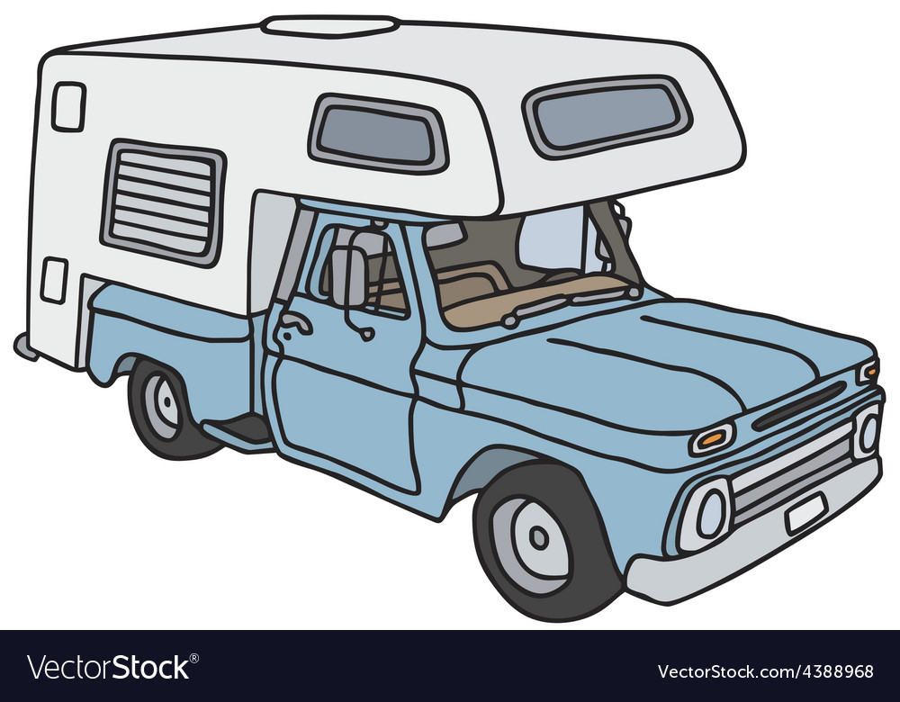Old small caravan Royalty Free Vector Image - VectorStock