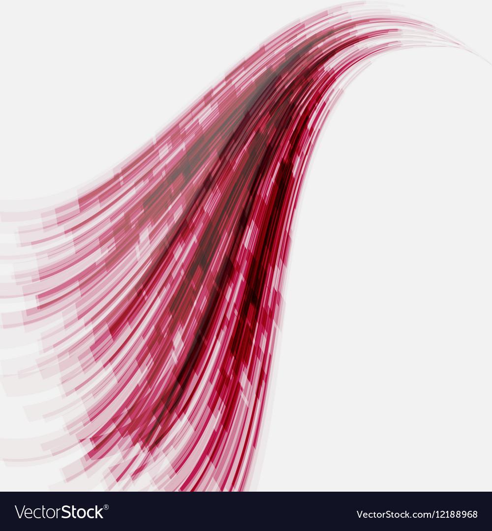 Red wave element for design