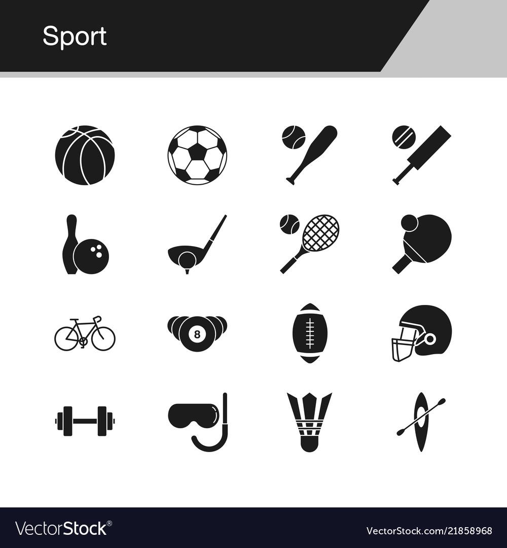 Sport icons design for presentation graphic