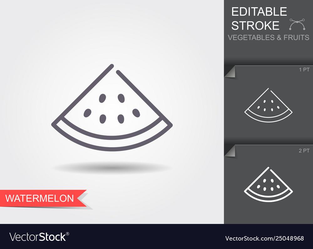 Watermelon outline icon