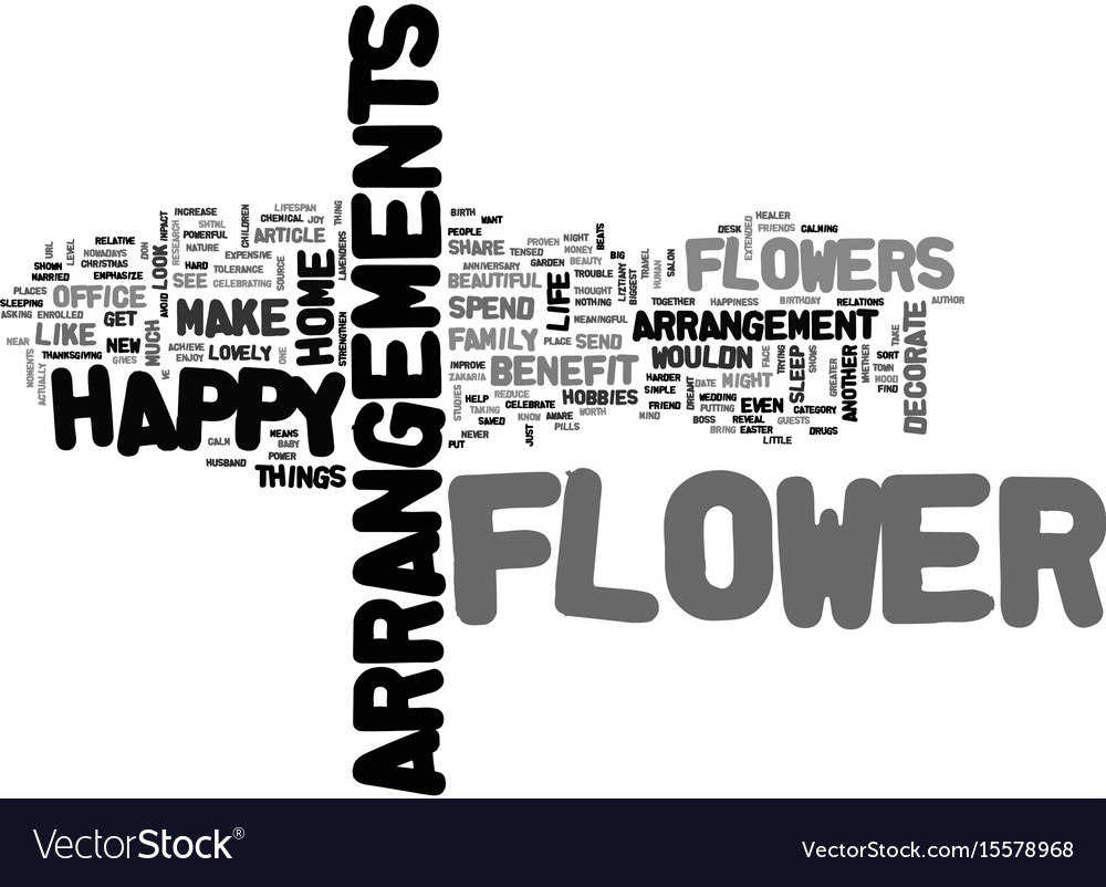 What is one flower benefit that you know of text vector image