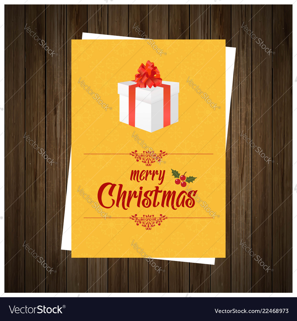 Christmas greetings card design with brown