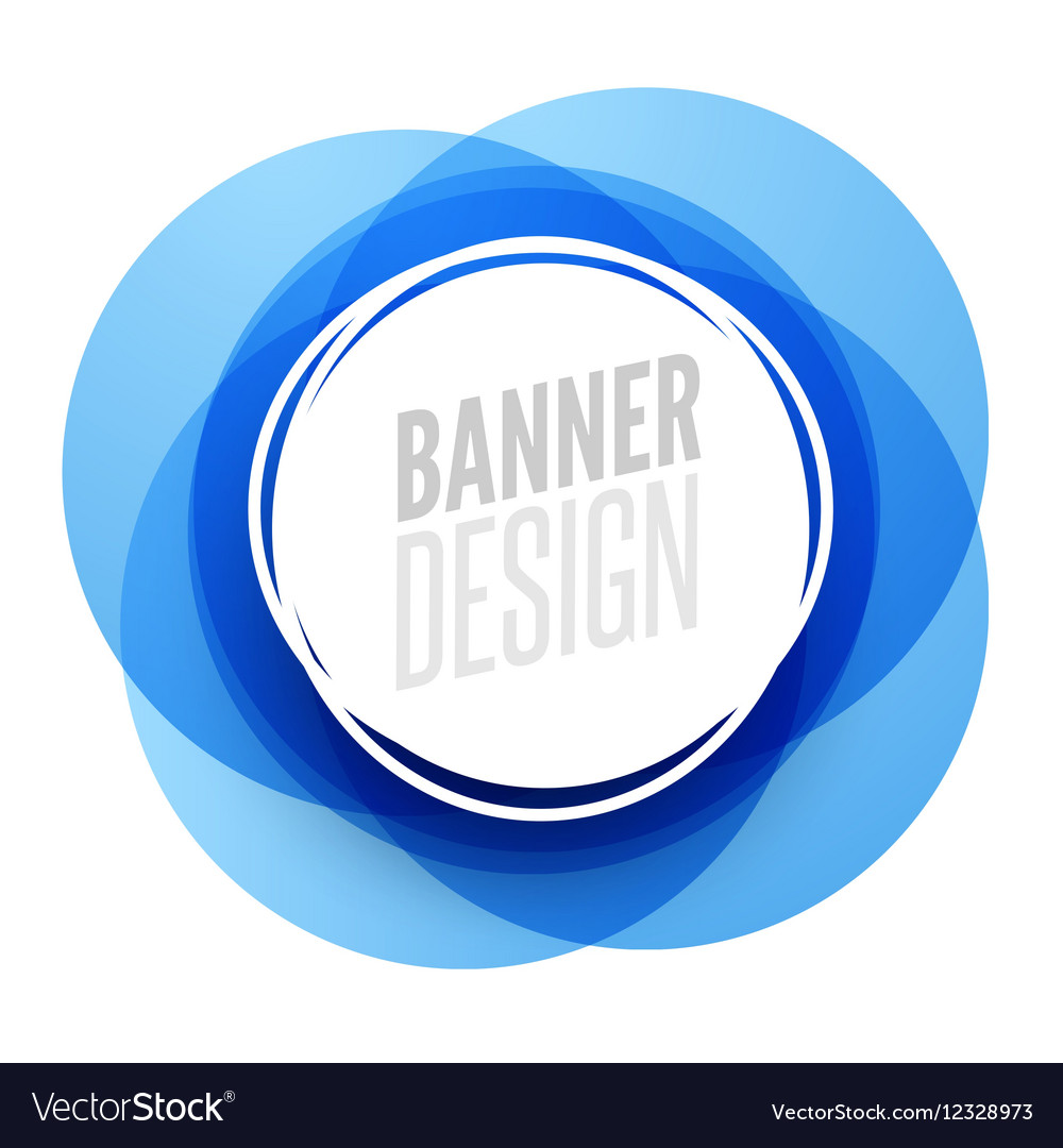Creative circle round banner with place for text