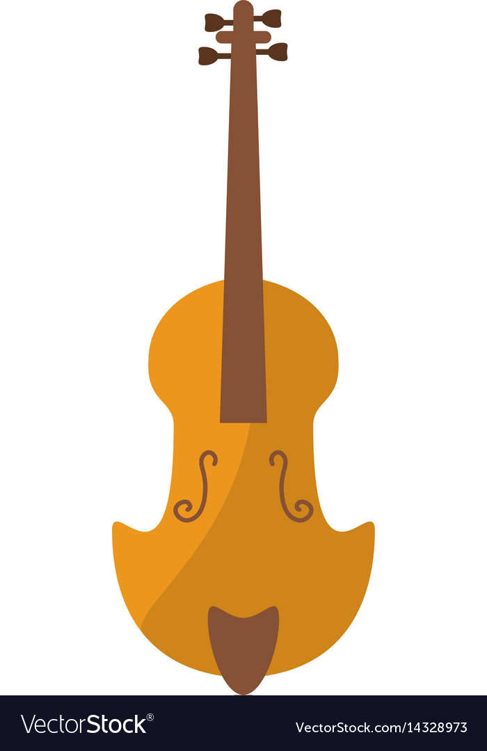 Fiddle classical music instrument vector image