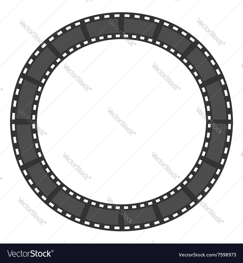 Film strip round circle frame Template Design Vector Image