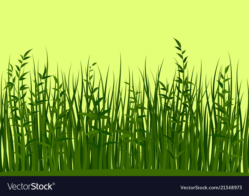 Grass and leaves seamless