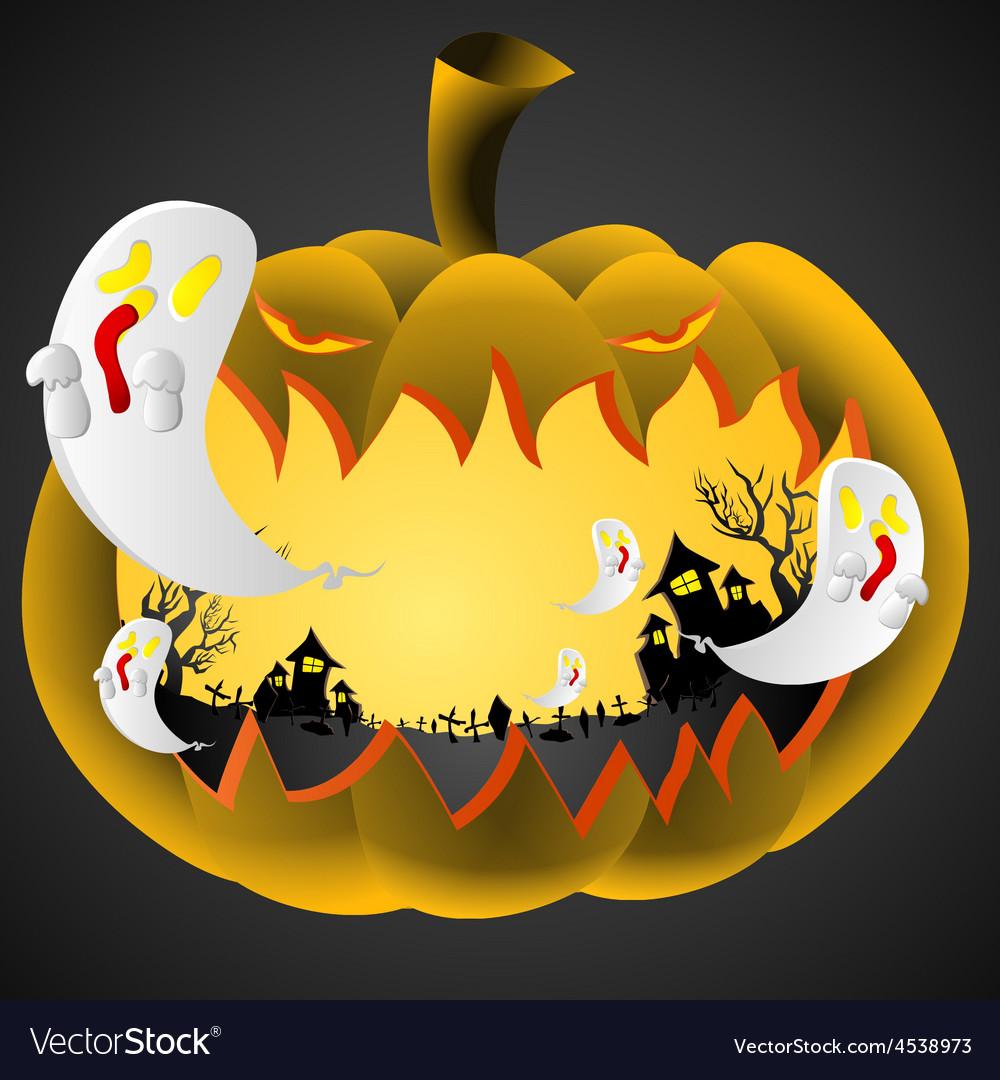Halloween Pumpkin on black background