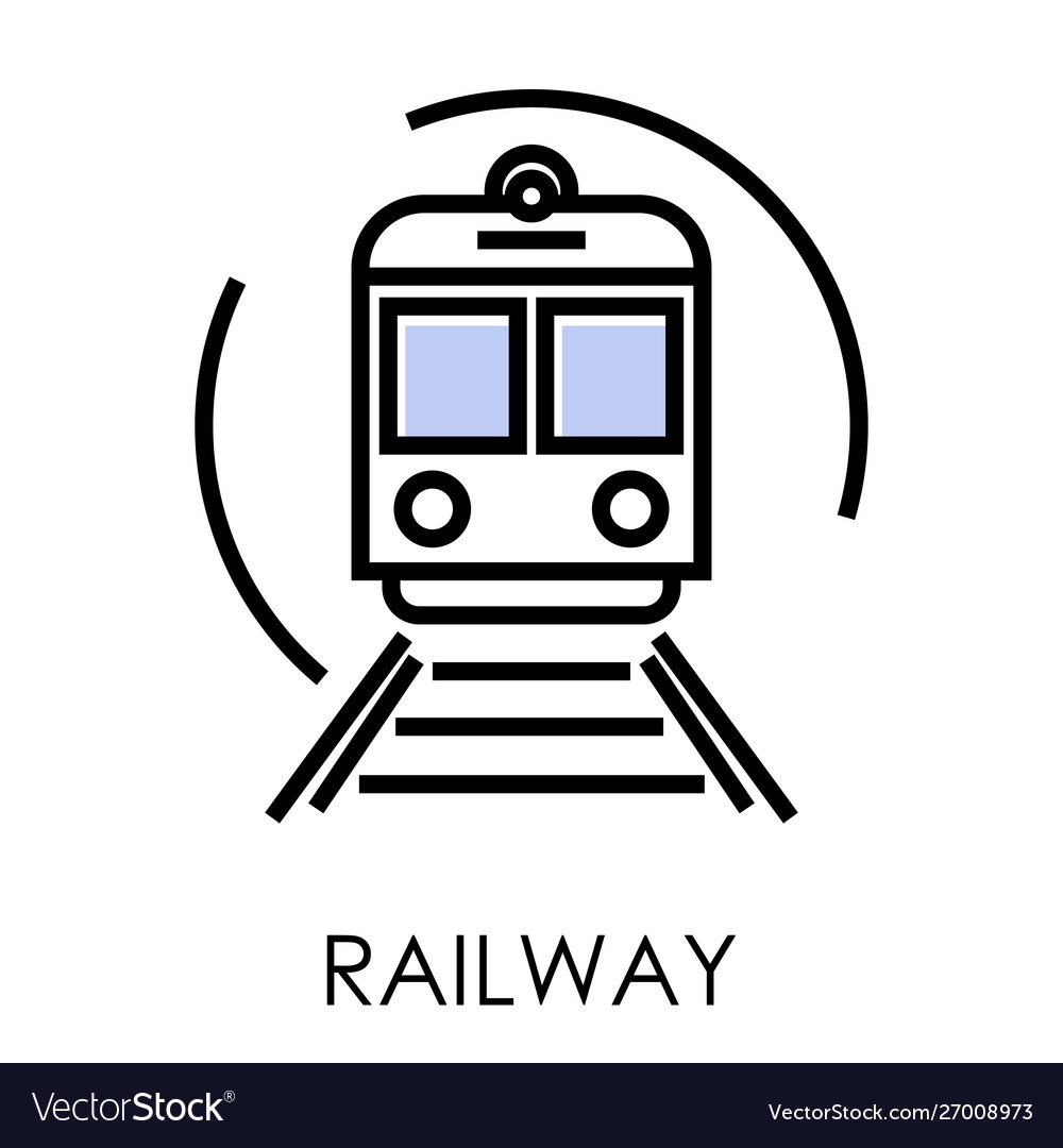 Railway delivery and transportation isolated icon