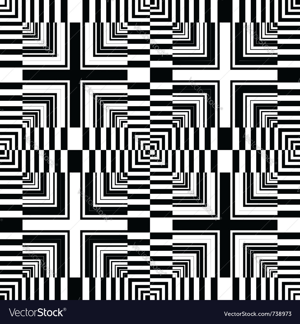 Seamless op art pattern