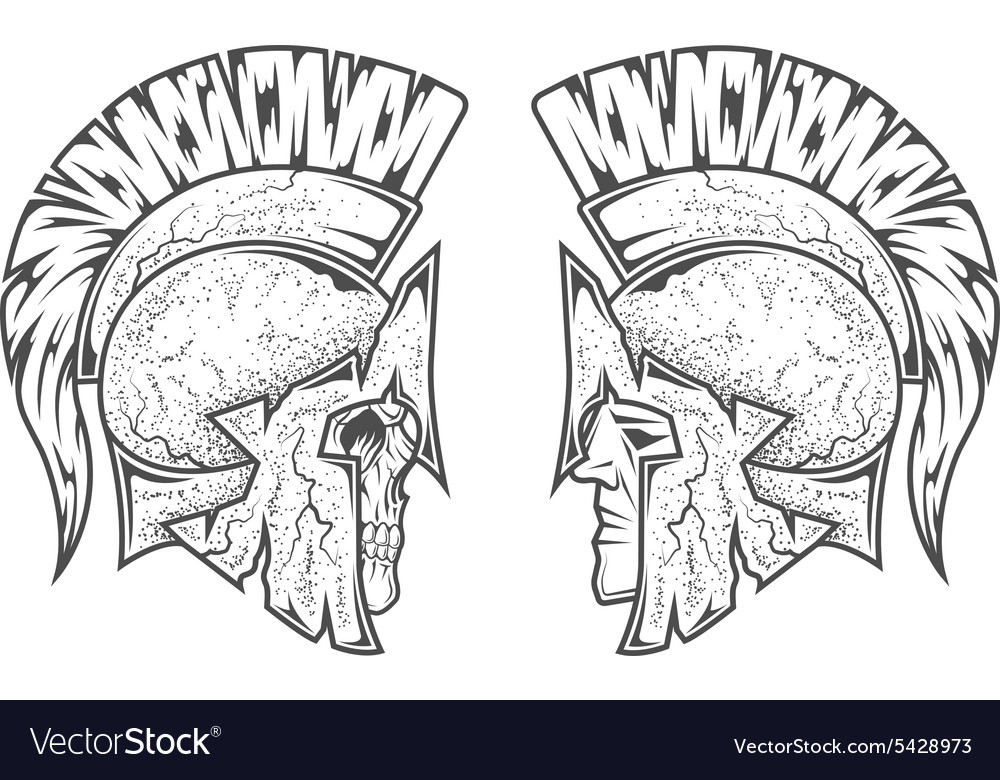 Spartan warriors Two variants vector image