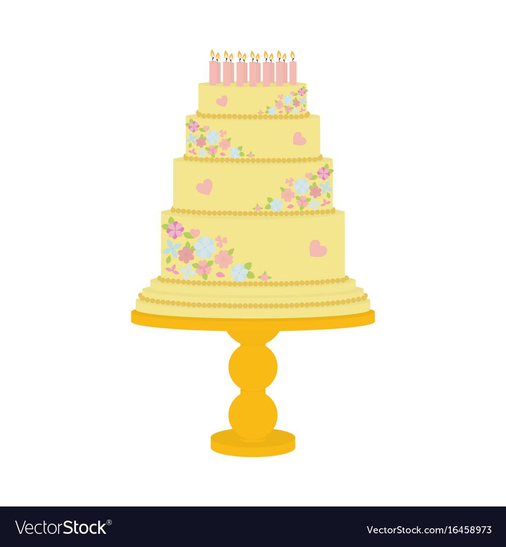 Sweet cake on biege
