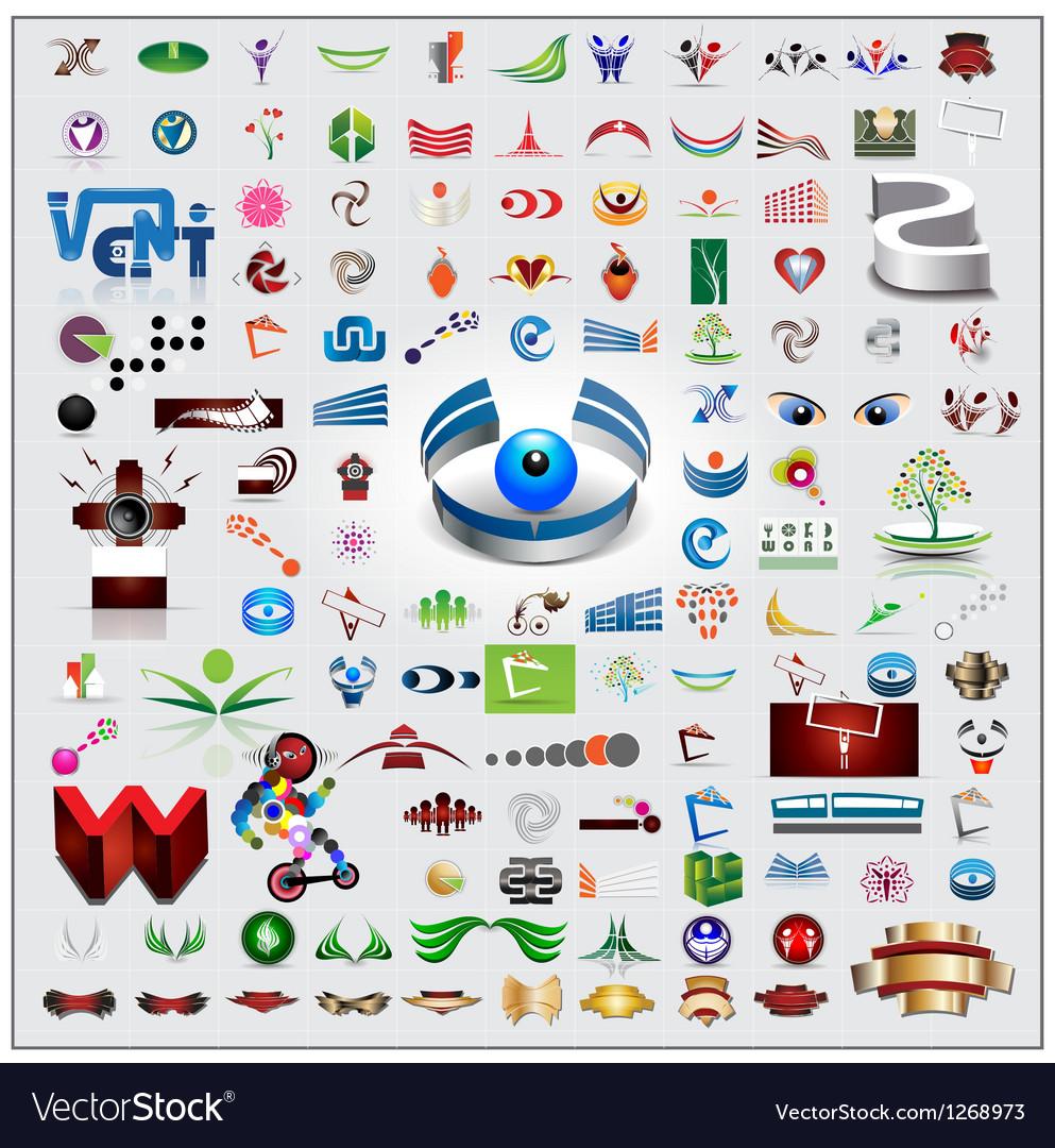 Symbols and icons set