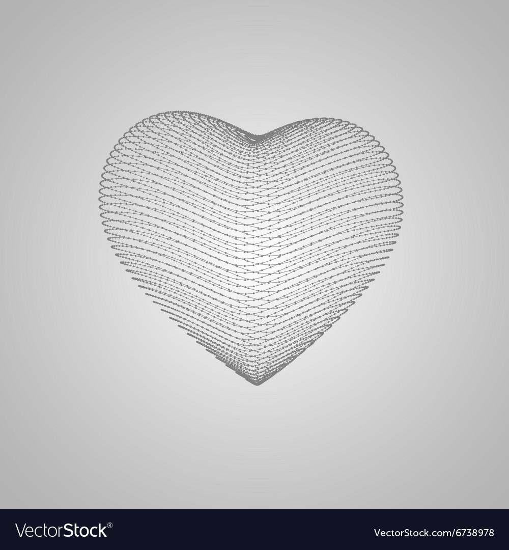 3D heart shape