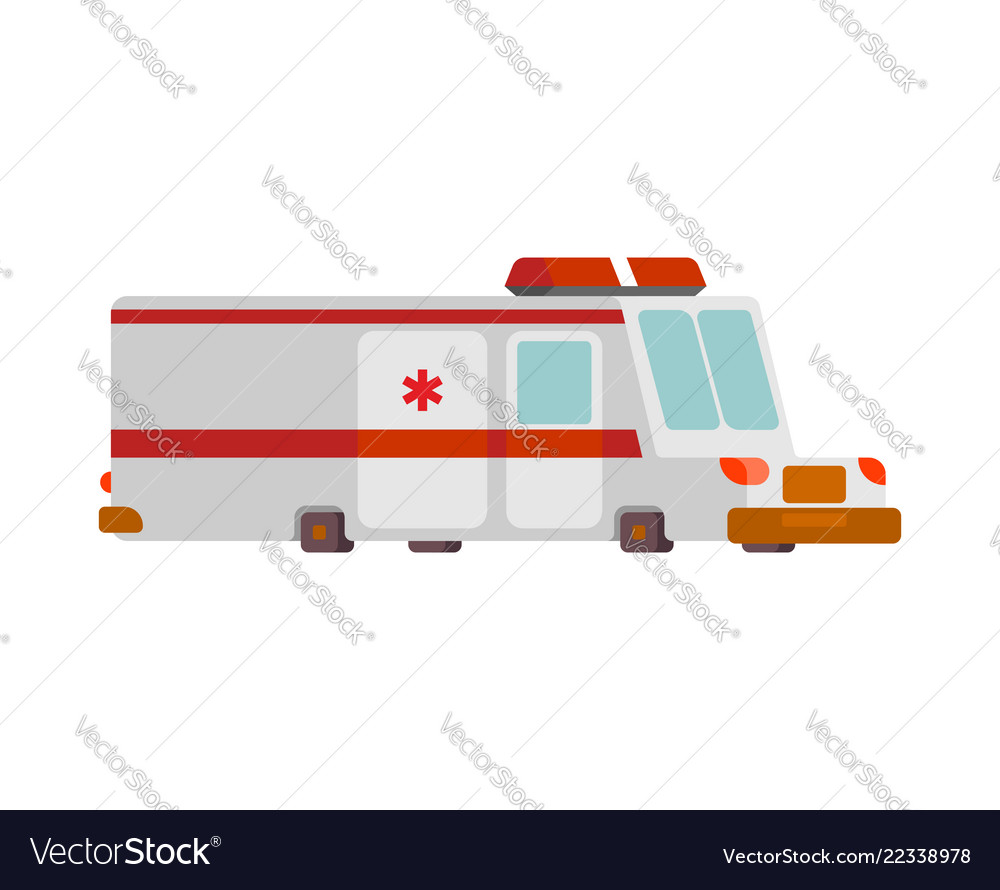 Ambulance car cartoon style health care car