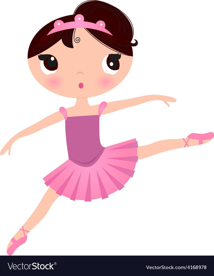 Beautiful cute ballerina in nice dress