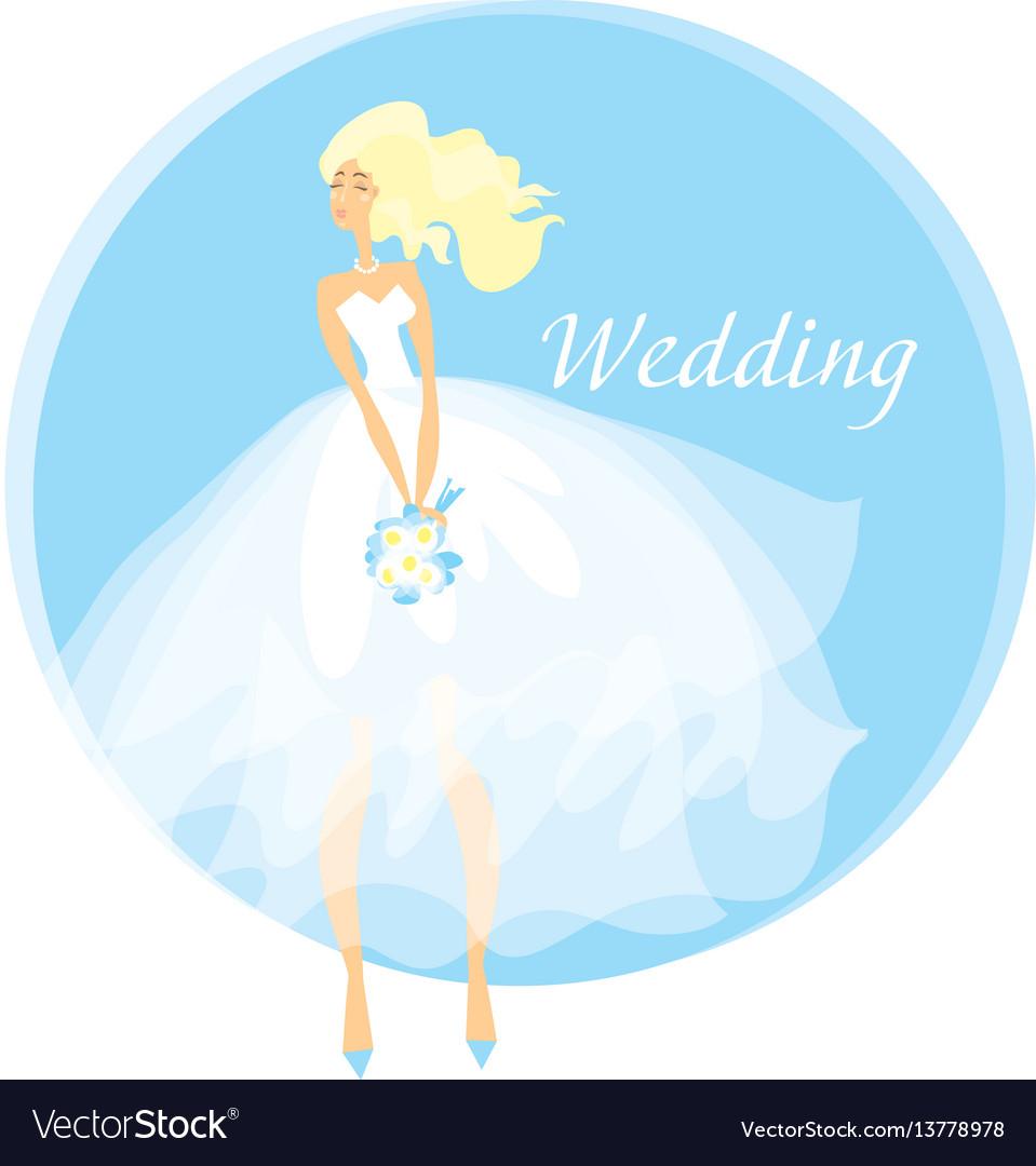 Bride wedding dress concept spring pastel color